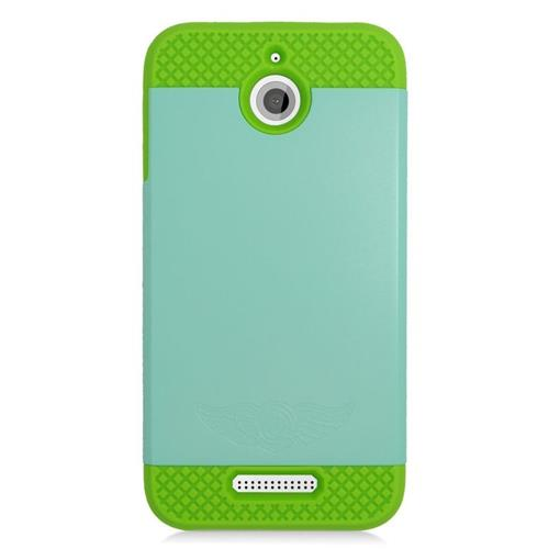 Insten Hybrid Rubberized Hard PC/Silicone Case For HTC Desire 510, Mint/Green
