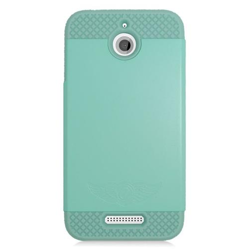 Insten Dual Layer Hybrid Rubberized Hard PC/Silicone Case Cover Compatible With HTC Desire 510, Mint