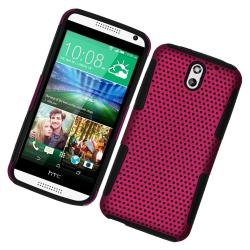 Insten Astronoot Hybrid Hard PC/Silicone Case For HTC Desire 610/612 Verizon, Hot Pink/Black