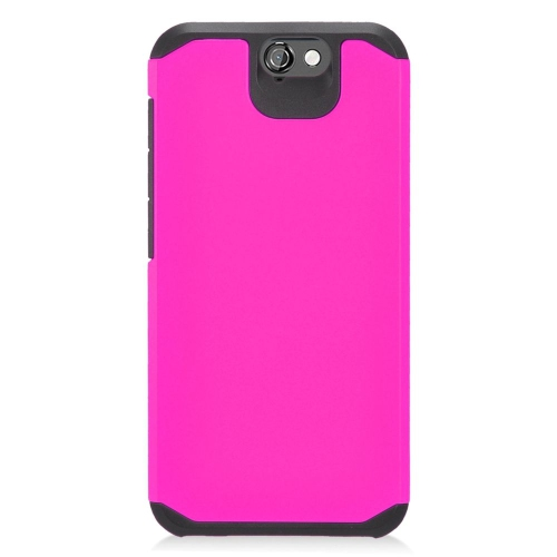 Insten Hybrid Rubberized Hard PC/Silicone Case For HTC One A9, Hot Pink/Black