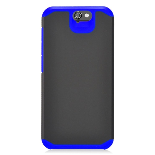 Insten Hybrid Rubberized Hard PC/Silicone Case For HTC One A9, Black/Blue