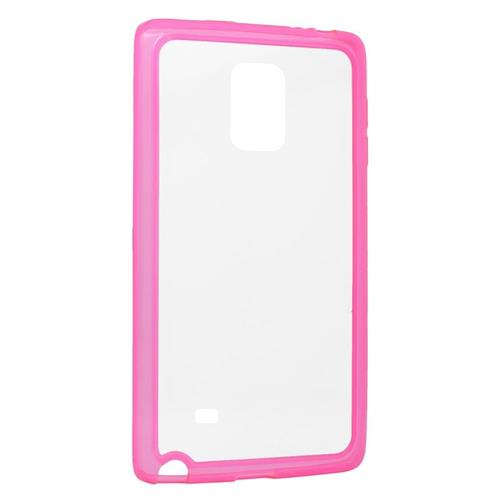 Insten TPU Rubber Candy Skin Case Cover Compatible With Samsung Galaxy Note Edge, Clear/Pink
