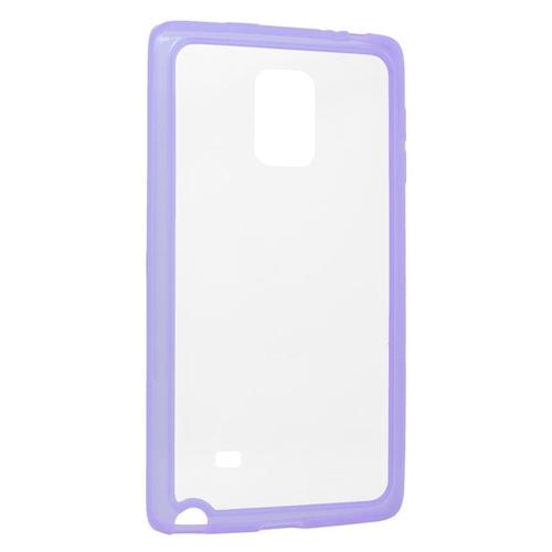 Insten TPU Rubber Candy Skin Case Cover Compatible With Samsung Galaxy Note Edge, Clear/Purple
