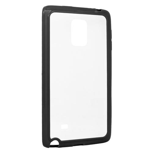 Insten TPU Rubber Candy Skin Case Cover Compatible With Samsung Galaxy Note Edge, Clear/Black