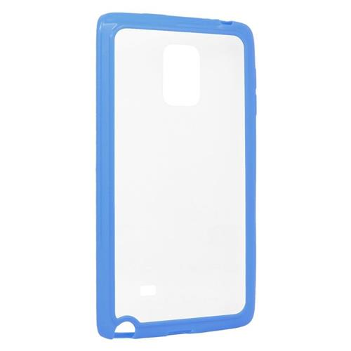 Insten TPU Rubber Candy Skin Case Cover Compatible With Samsung Galaxy Note Edge, Clear/Blue
