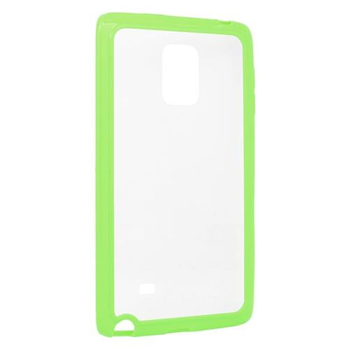 Insten TPU Rubber Candy Skin Case Cover Compatible With Samsung Galaxy Note Edge, Clear/Green