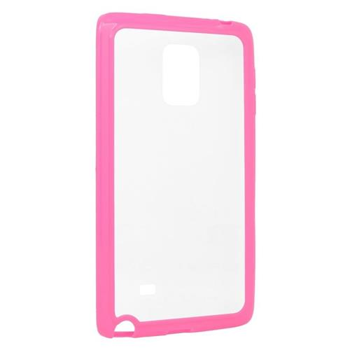 Insten TPU Rubber Candy Skin Case Cover Compatible With Samsung Galaxy Note Edge, Clear/Hot Pink