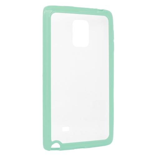 Insten TPU Rubber Candy Skin Case Cover Compatible With Samsung Galaxy Note Edge, Clear/Mint