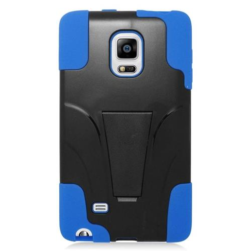 Insten Hybrid Stand PC/Silicone Case For Samsung Galaxy Note Edge, Black/Blue