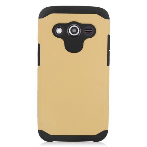 Insten Hybrid Rubberized Hard PC/Silicone Case For Samsung Galaxy Avant, Gold/Black