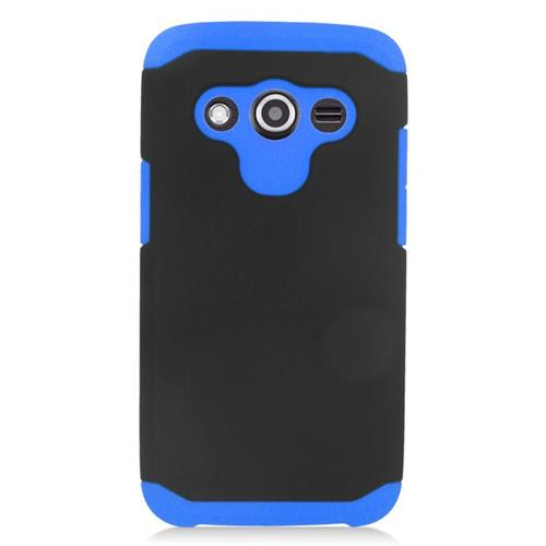 Insten Hybrid Rubberized Hard PC/Silicone Case For Samsung Galaxy Avant, Black/Blue