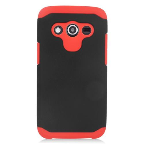 Insten Hybrid Rubberized Hard PC/Silicone Case For Samsung Galaxy Avant, Black/Red