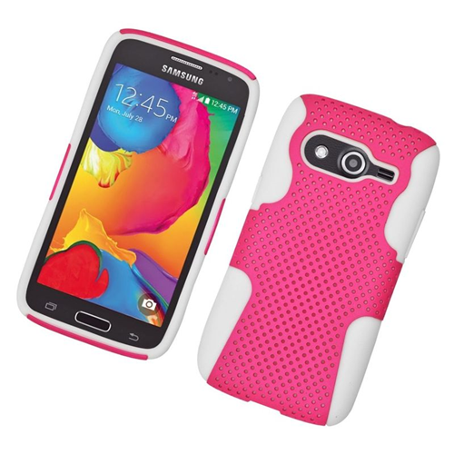 Insten Astronoot Hybrid PC/TPU Rubber Case For Samsung Galaxy Avant, Hot Pink/White
