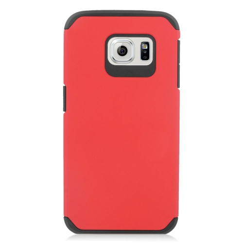 Insten Hybrid Rubberized Hard PC/Silicone Case For Samsung Galaxy S6 Edge, Red/Black