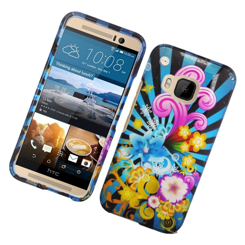 Insten Fireworks Rubberized Hard Snap-in Case Cover Compatible With HTC One M9, Colorful