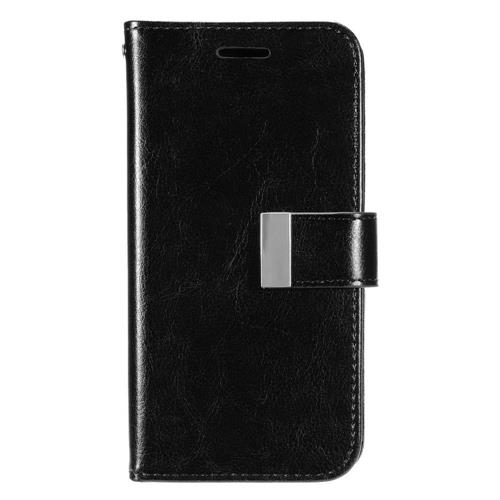 Insten Book-Style Leather Fabric Case w/card holder/Photo Display For Samsung Galaxy S7, Black