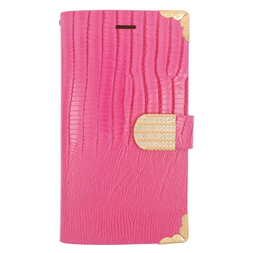 Insten Flip Leather Fabric Case w/card holder/Diamond For LG G4, Pink/Gold