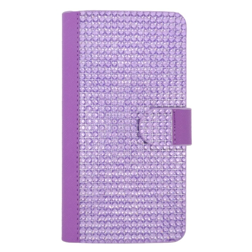 Insten Folio Leather Diamante Case w/card slot For LG G Stylo LS770/G Vista 2, Purple