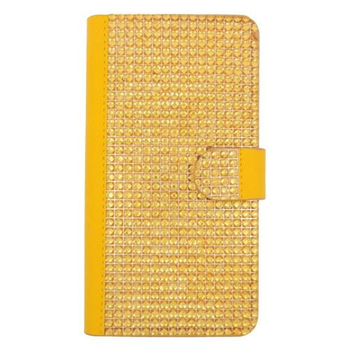 Insten Folio Leather Rhinestone Cover Case w/card holder For LG G Stylo LS770/G Vista 2, Gold