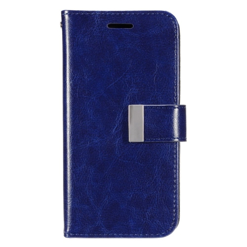 Insten Leather Fabric Case w/card slot/Photo Display For LG G Stylo LS770/G Vista 2, Dark Blue