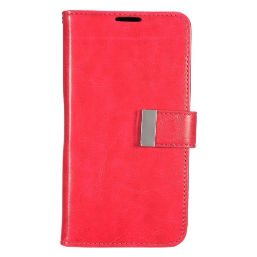 Insten Leather Fabric Case w/card slot/Photo Display For LG G Stylo LS770/G Vista 2, Red/Black