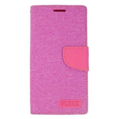 Insten Flip Leather Fabric Cover Case w/stand/card slot/Photo Display For LG Volt 2, Pink
