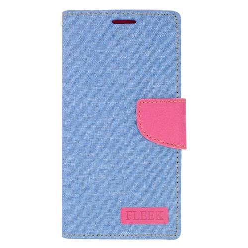 Insten Folio Leather Fabric Case w/stand/card holder/Photo Display For LG Volt 2, Light Blue/Pink