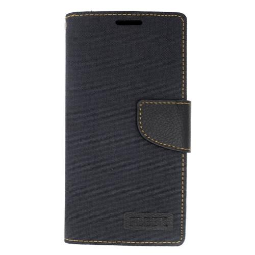 Insten Book-Style Leather Fabric Case w/stand/card slot/Photo Display For LG Volt 2, Black