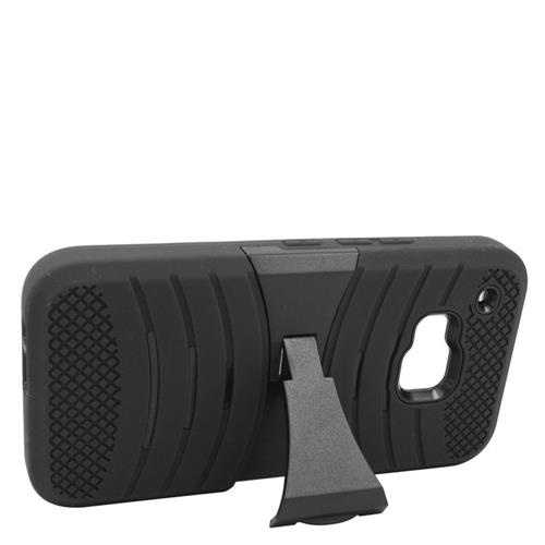 Insten Wave Hybrid Stand Rubber Silicone/PC Case For HTC One M9, Black