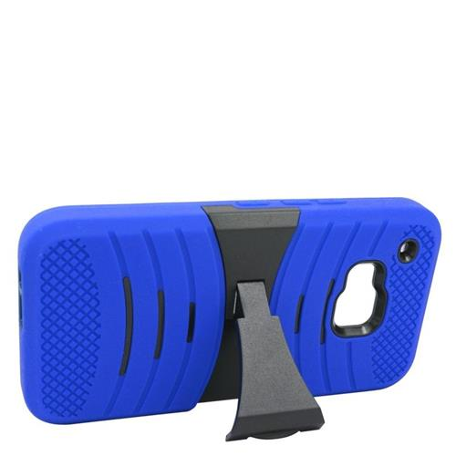 Insten Wave Hybrid Stand Rubber Silicone/PC Case For HTC One M9, Blue/Black