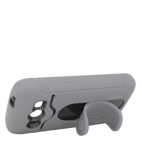 Insten Hybrid Stand Rubber Silicone/PC ID/Card Slot Case For Samsung Galaxy Avant, Gray/Black