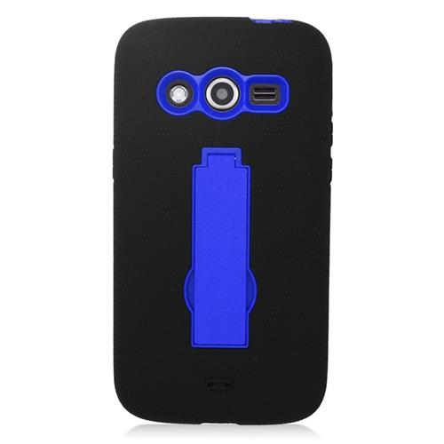 Insten Hybrid Stand Rubber Silicone/PC Case For Samsung Galaxy Avant, Black/Blue