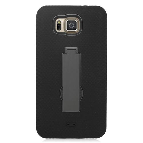 Insten Hybrid Silicone/PC Case For Samsung Galaxy Alpha SM-G850A (AT&T)/SM-G850T (T-Mobile), Black