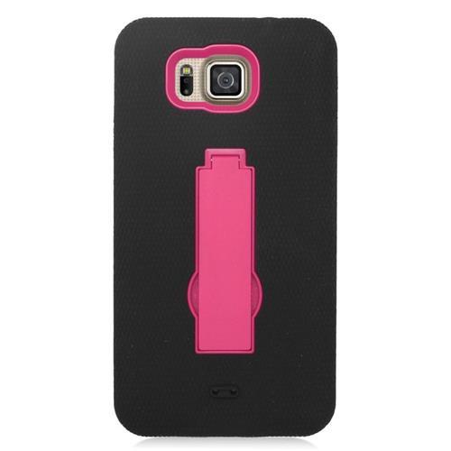Insten Hybrid Case For Samsung Galaxy Alpha SM-G850A (AT&T)/SM-G850T (T-Mobile), Black/Hot Pink