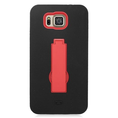 Insten Hybrid Case For Samsung Galaxy Alpha SM-G850A (AT&T)/SM-G850T (T-Mobile), Black/Red