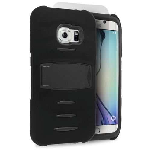 Insten Fitted Soft Shell Case for Samsung Galaxy S6 Edge - Black