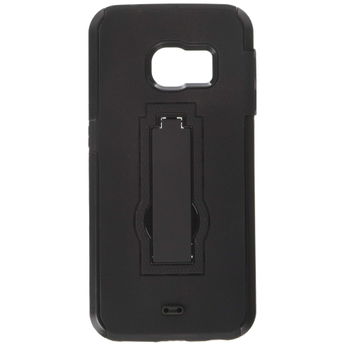 Insten Hybrid Stand Rubber Silicone/PC Case For Samsung Galaxy S6 Edge, Black