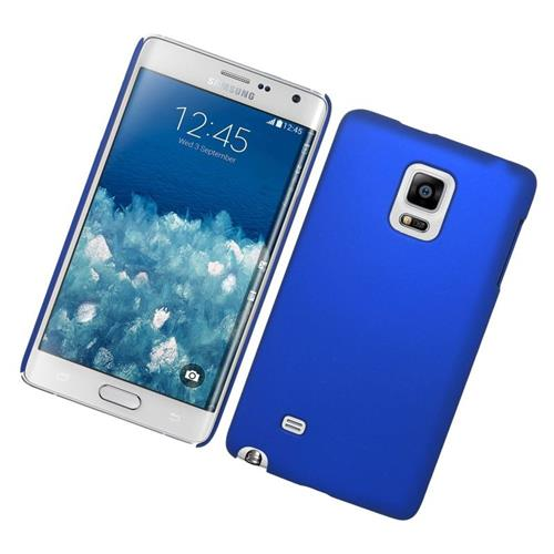 Insten Rubberized Hard Snap-in Case Cover Compatible With Samsung Galaxy Note Edge, Blue
