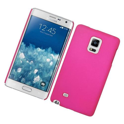 Insten Rubberized Hard Snap-in Case Cover Compatible With Samsung Galaxy Note Edge, Hot Pink