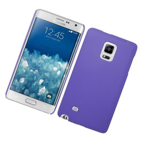 Insten Rubberized Hard Snap-in Case Cover Compatible With Samsung Galaxy Note Edge, Purple