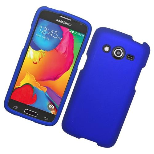 Insten Rubberized Hard Snap-in Case Cover Compatible With Samsung Galaxy Avant, Blue