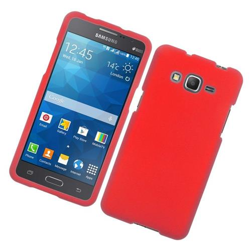 Insten Rubberized Hard Snap-in Case Cover Compatible With Samsung Galaxy Grand Prime, Red