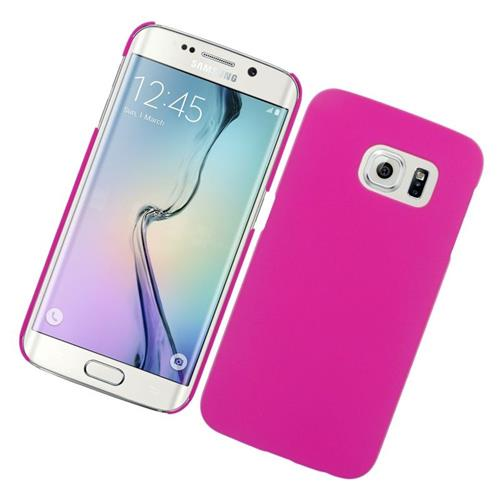 Insten Rubberized Hard Snap-in Case Cover Compatible With Samsung Galaxy S6 Edge, Hot Pink
