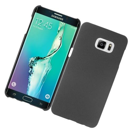 Insten Rubberized Hard Snap-in Case Cover Compatible With Samsung Galaxy S6 Edge Plus, Black