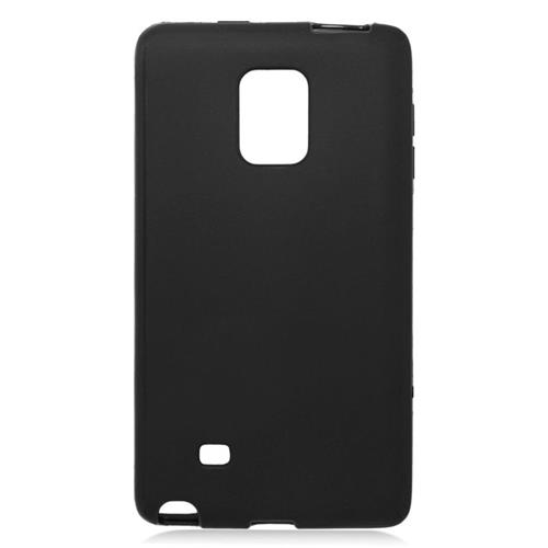 Insten TPU Rubber Candy Skin Case Cover Compatible With Samsung Galaxy Note Edge, Black