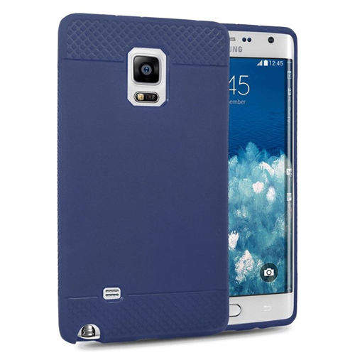 Insten TPU Rubber Candy Skin Case Cover Compatible With Samsung Galaxy Note Edge, Blue