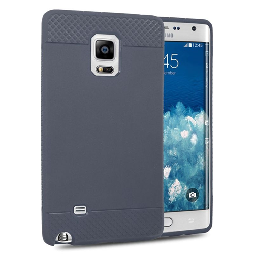 Insten TPU Rubber Candy Skin Case Cover Compatible With Samsung Galaxy Note Edge, Gray