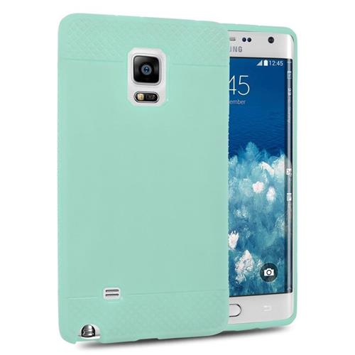 Insten TPU Rubber Candy Skin Case Cover Compatible With Samsung Galaxy Note Edge, Mint Green