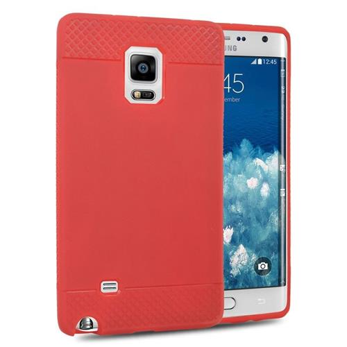 Insten TPU Rubber Candy Skin Case Cover Compatible With Samsung Galaxy Note Edge, Red