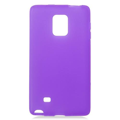 Insten TPU Rubber Candy Skin Case Cover Compatible With Samsung Galaxy Note Edge, Purple